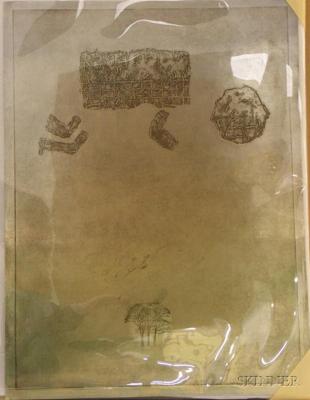 Seven Unframed Works on Paper