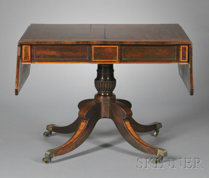 English Inlaid Rosewood Drop-leaf Table