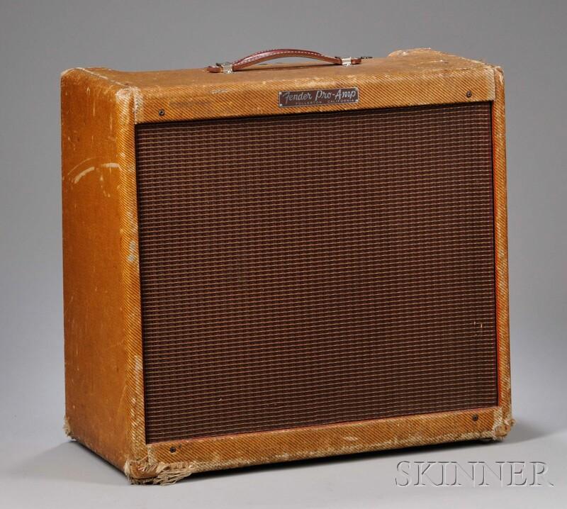 American Guitar Amplifier, Fender Electric Instruments, Fullerton, 1957, Model   Pro-Amp