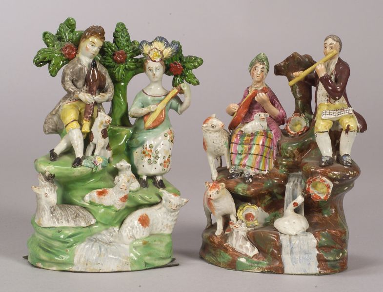 Two Staffordshire Pearlware Musician Groups