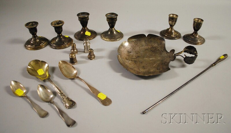 Sixteen Silver Flatware and Table Articles