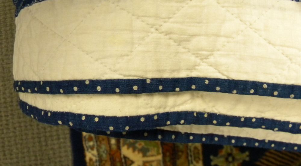 Two Blue and White Pieced Cotton Quilts
