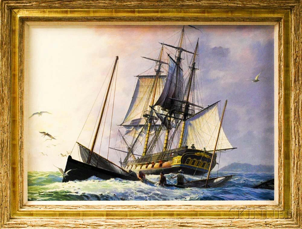 Robert Sticker (American, 1922-2011)       Hornblower and the Fishermen.