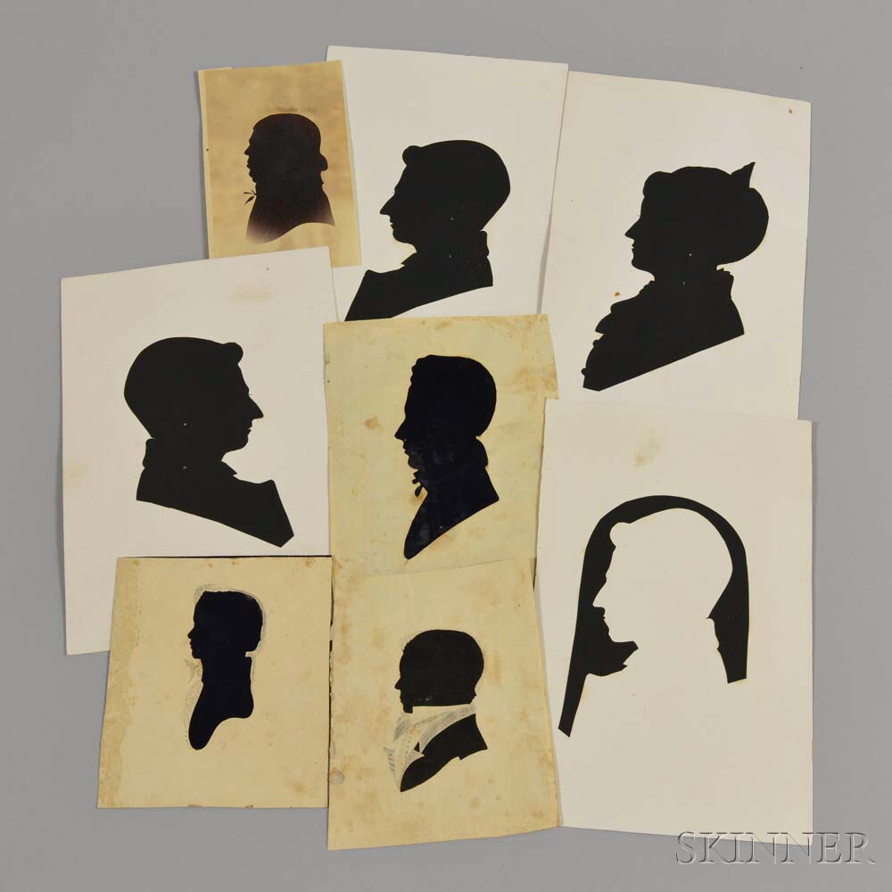 Eight Unframed Silhouettes