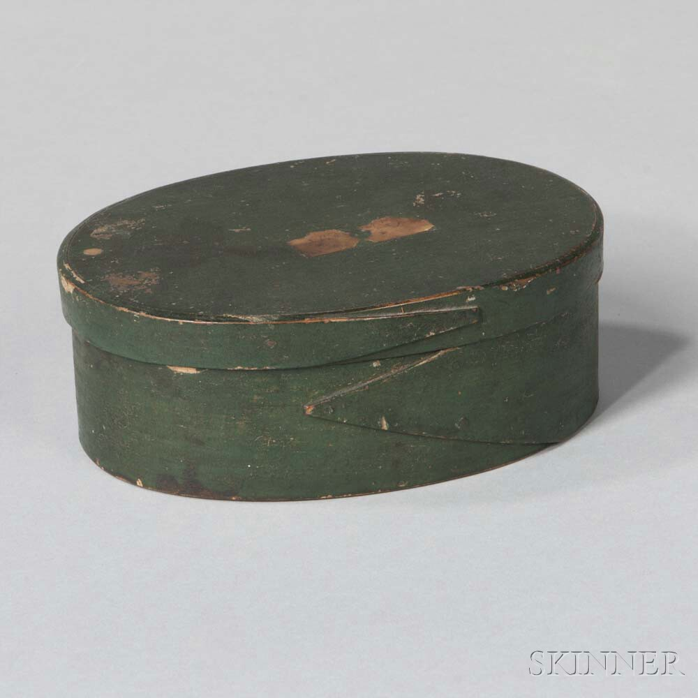 Green-painted Pantry Box