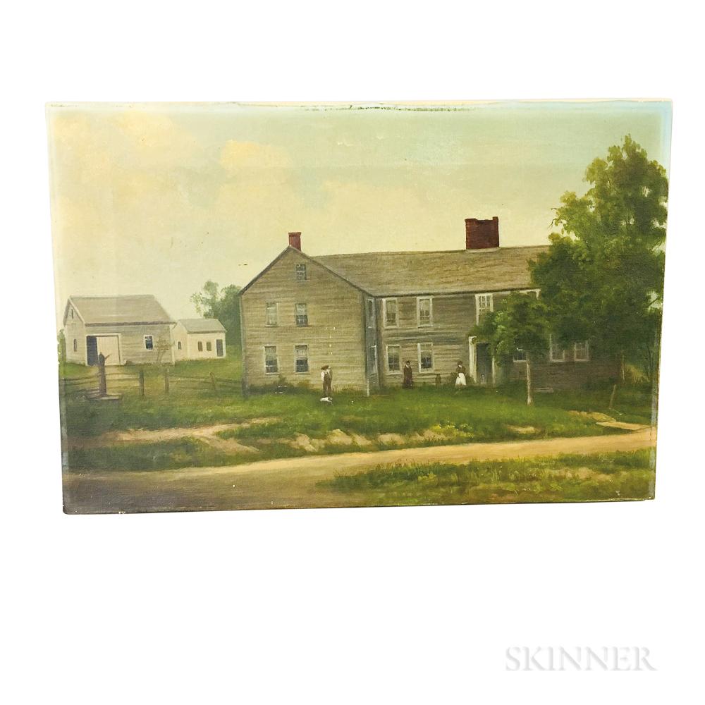 American School, 19th Century       Portrait of a House
