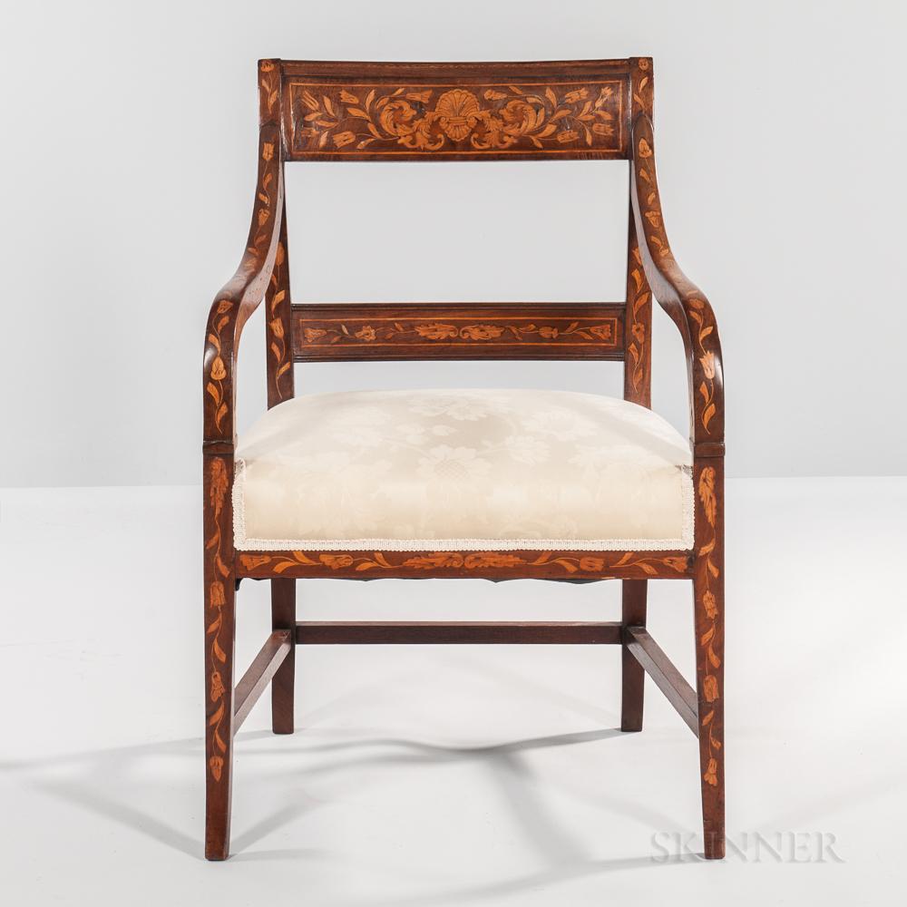Dutch Marquetry Armchair