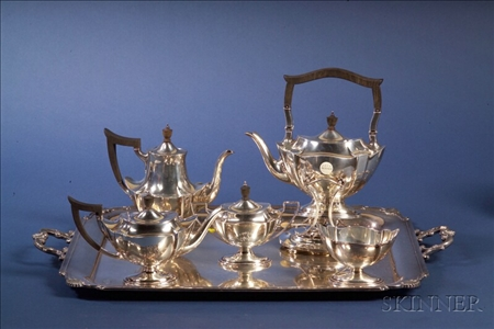 Gorham Sterling Five Piece Tea and Coffee Service