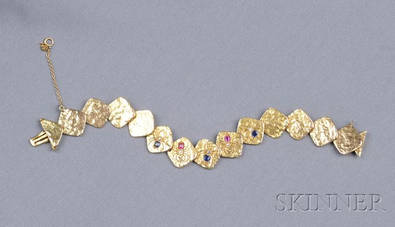 Antique Gem-set Spider Bracelet
