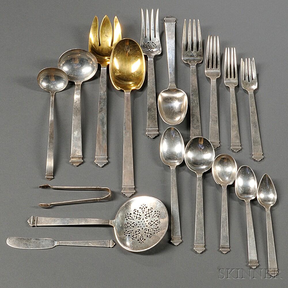 hampton pattern sterling silver flatware service - Sterling Silver Flatware
