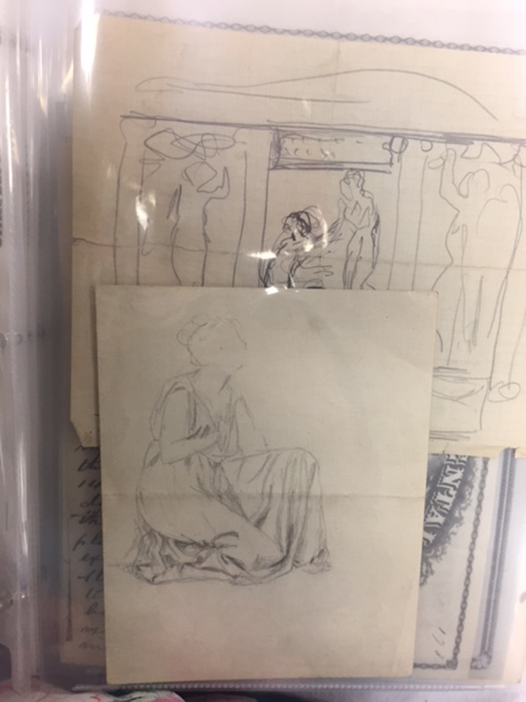 Mears, Helen Farnsworth (1872-1916) Large Archive of Original Material Related to the Sculptor.