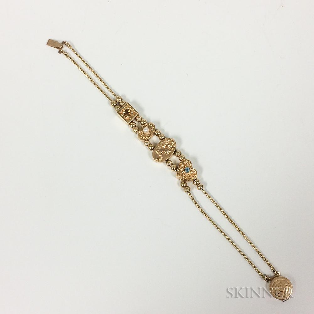 Art Nouveau-style Slide Bracelet