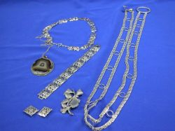 Group of Silver Jewelry Articles.