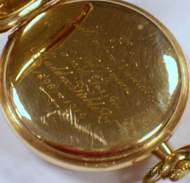Gold-filled 23-jewel Waltham Maximus Open Face Pocket Watch