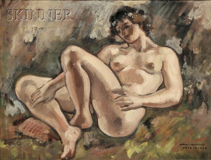 William Horace Littlefield  (American, 1902-1969)      Portrait of a Reclining Female Nude