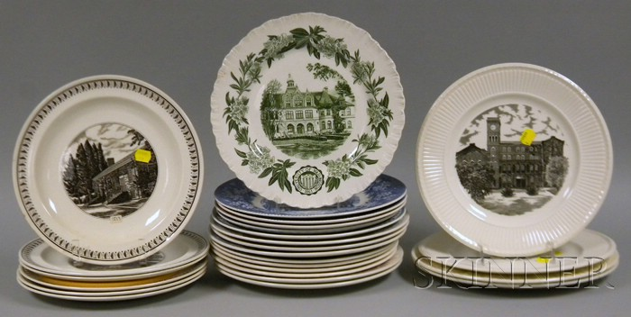 Twenty-five Assorted Wedgwood University and College Ceramic Plates