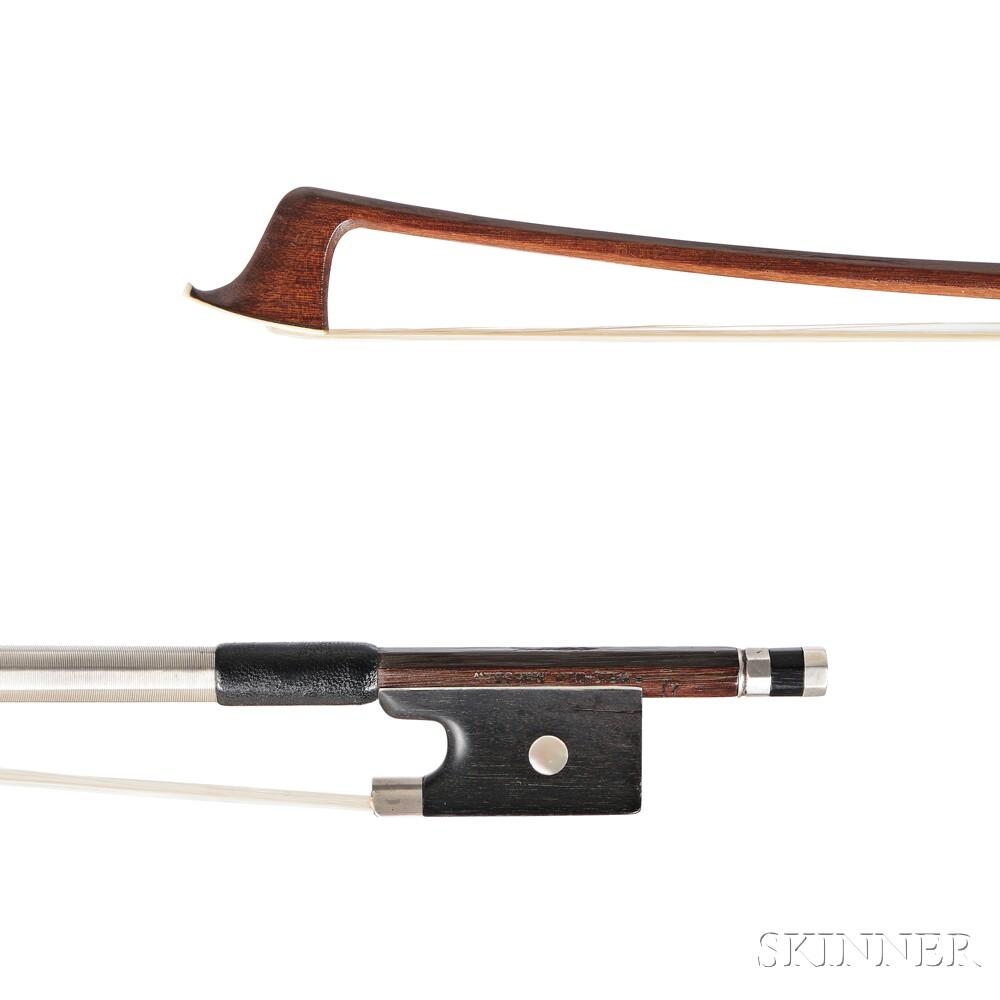 German Nickel Silver-mounted Viola Bow