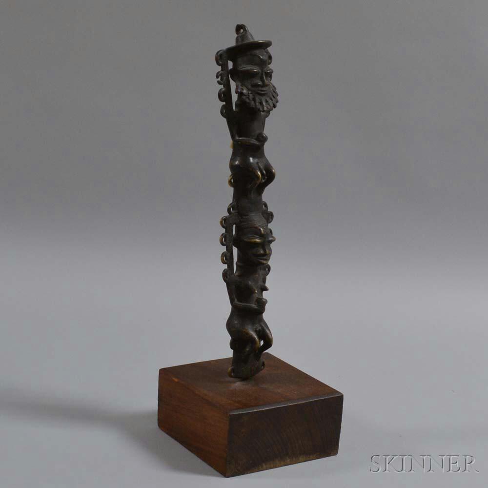 Bronze Figural Tribal Pole