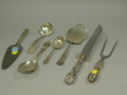 Seven Sterling Silver Flatware Serving Pieces.