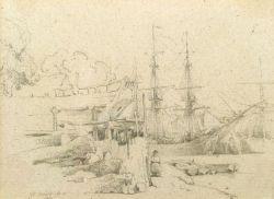 George Jones (British, 1786-1869)  Shipping at Bristol.