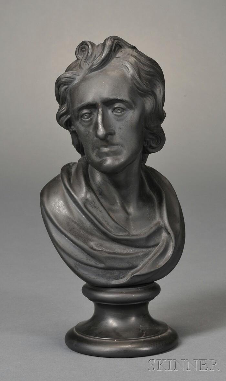 Wedgwood Black Basalt Bust of Locke