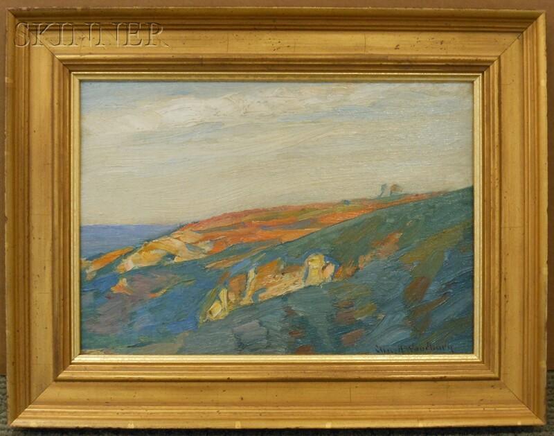 Charles Herbert Woodbury (American, 1864-1940)      Cliffs, Late Afternoon