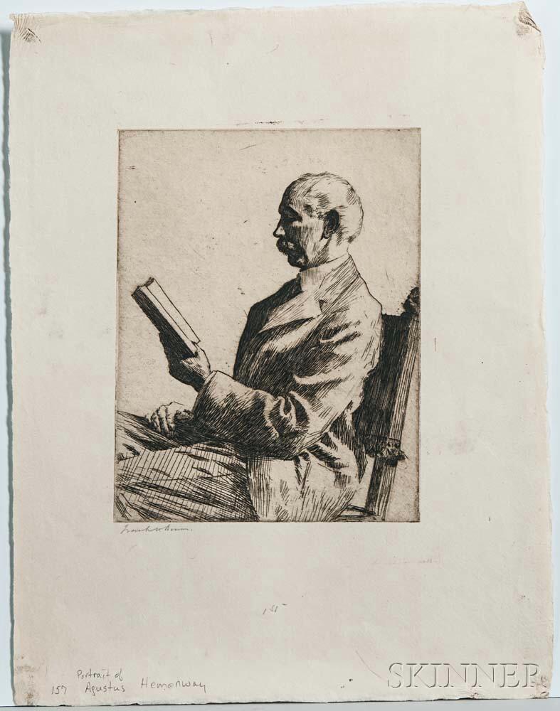 Frank Weston Benson (American, 1862-1951)      Portrait of Augustus Hemenway