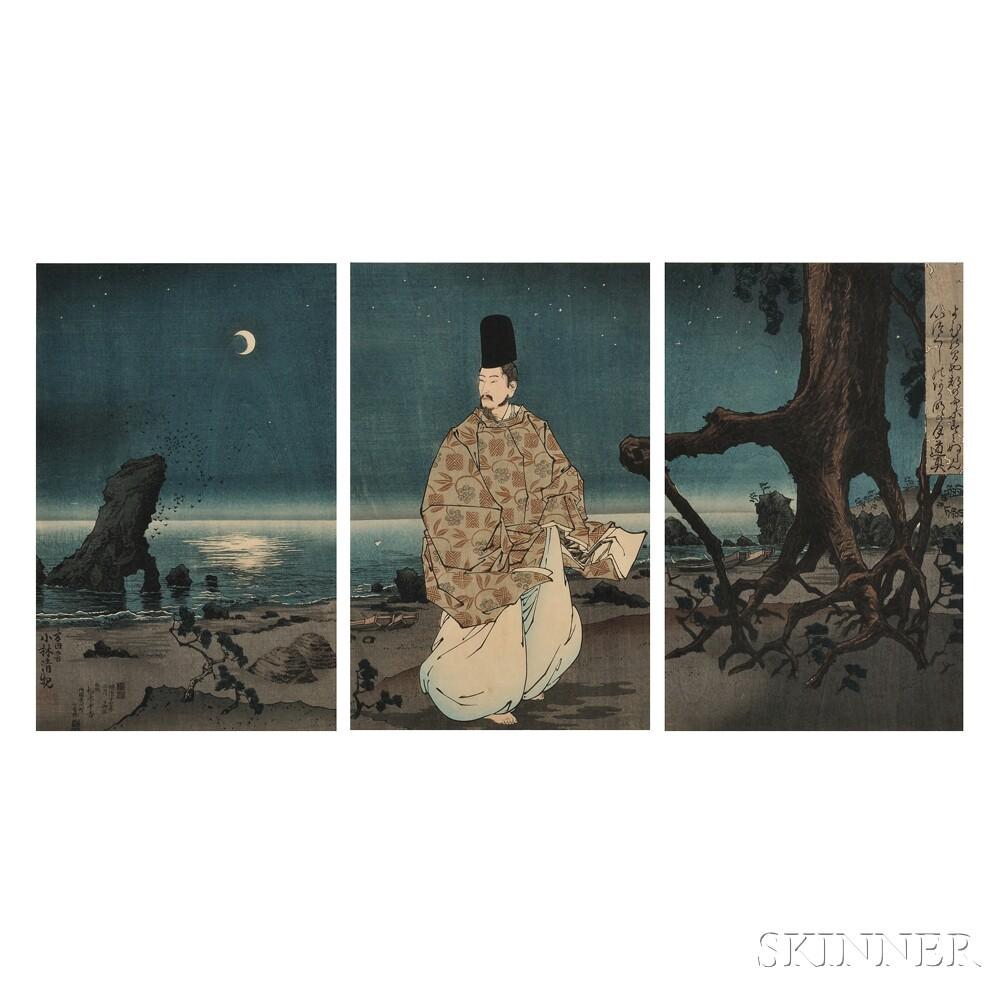 Kobayashi Kiyochika (1847-1915), Sugawara no Michizane