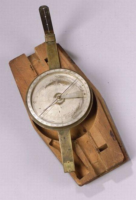Brass Surveyor's Compass by Abner Dod