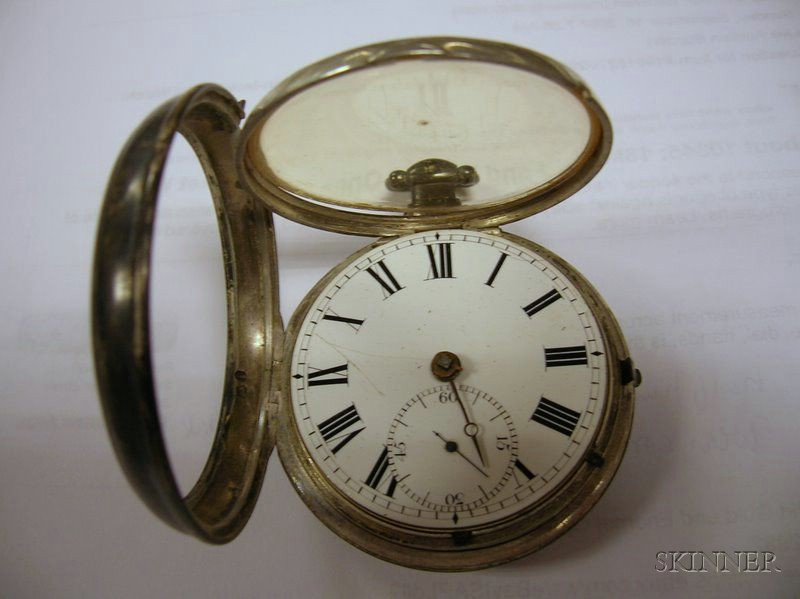 Two 18th/19th Century English Sterling Silver Open Face Key-wind Pocket Watches