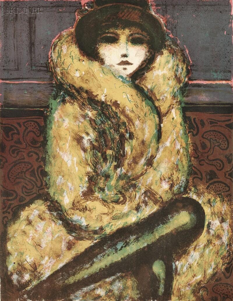 Jean-Pierre Cassigneul (French, b. 1935)      Le Manteau de fourrure
