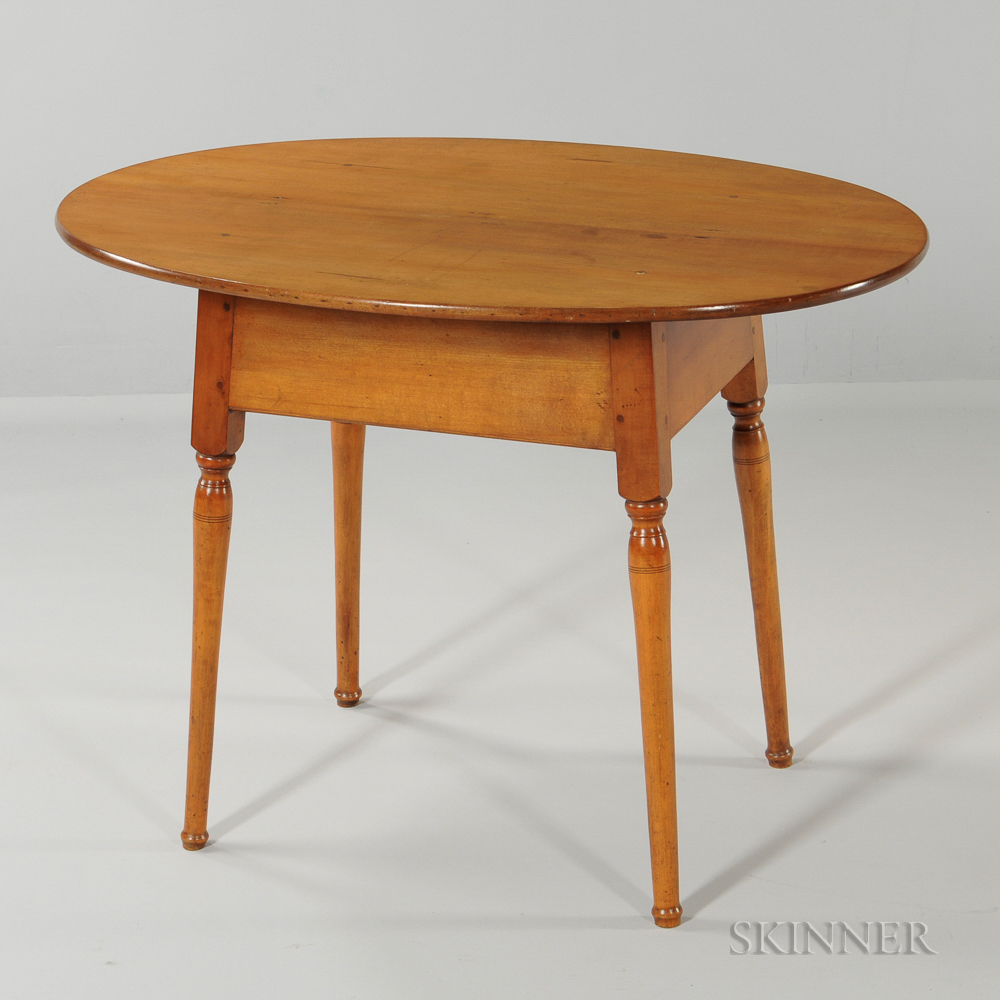 Maple Oval-top Tea Table