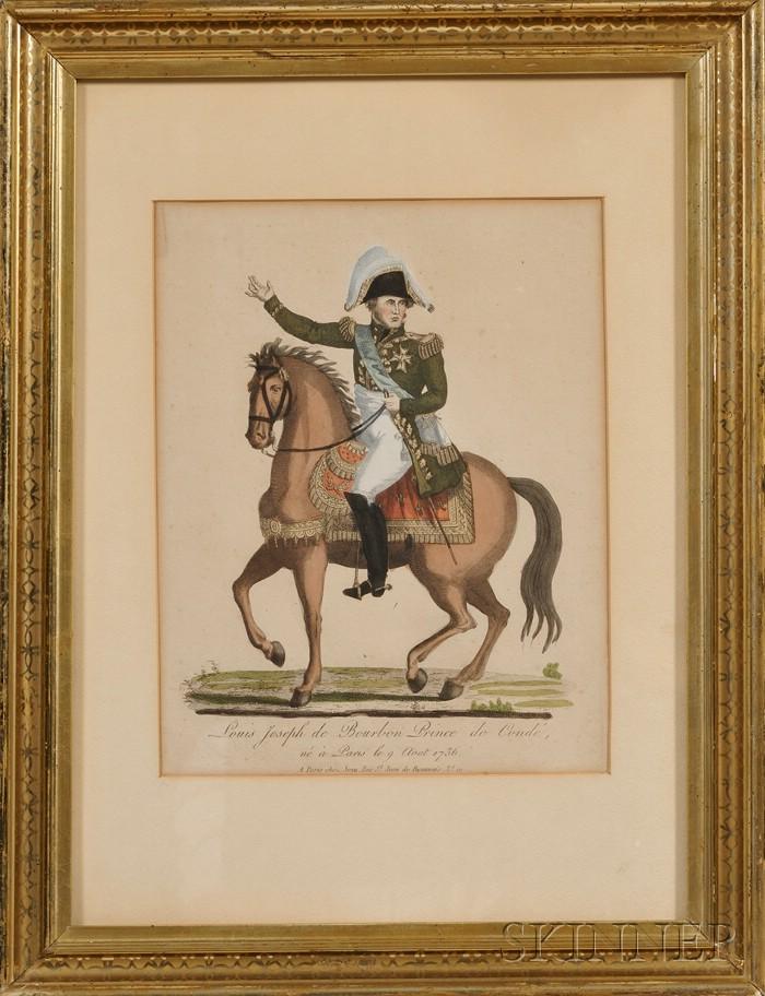 Military Print of Prince Louis Joseph de Bourbon