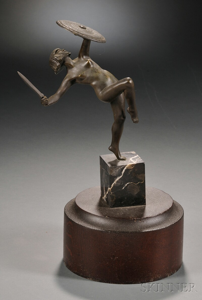 Art Deco Bronze Figure of an Amazon