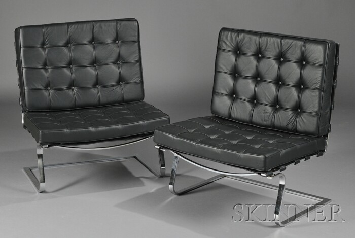 Pair of Mies Van Der Rohe Tugendhat Chairs