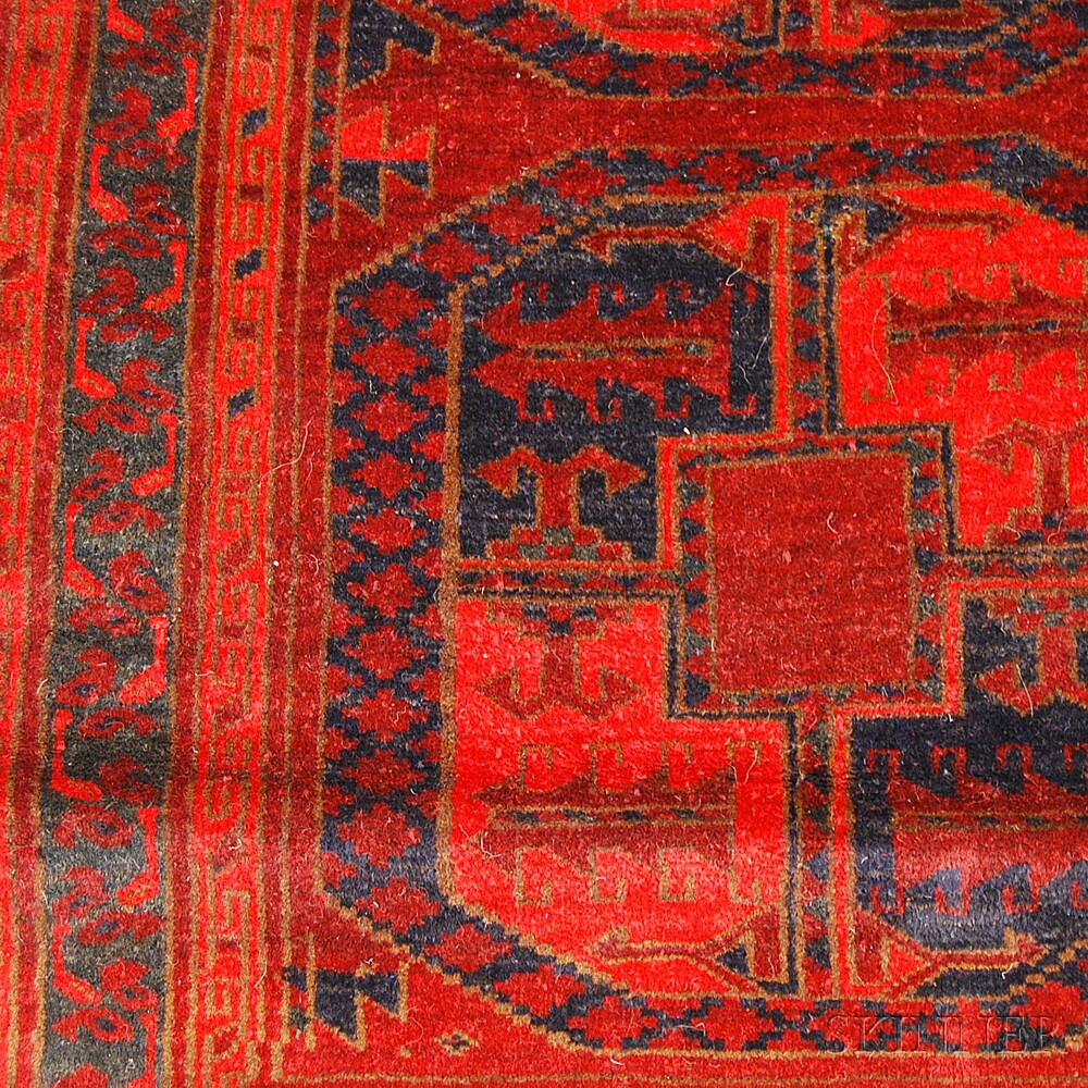 Two Afghan Rugs