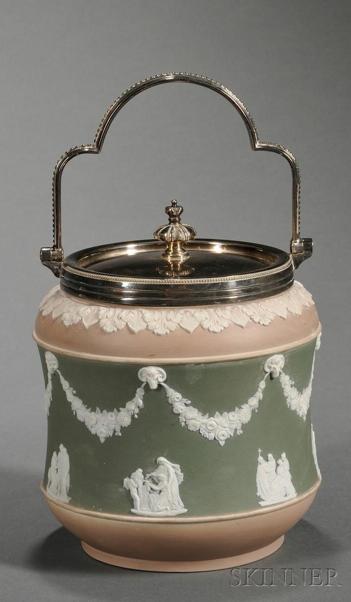 Wedgwood Three-Color Jasper Dip Biscuit Jar