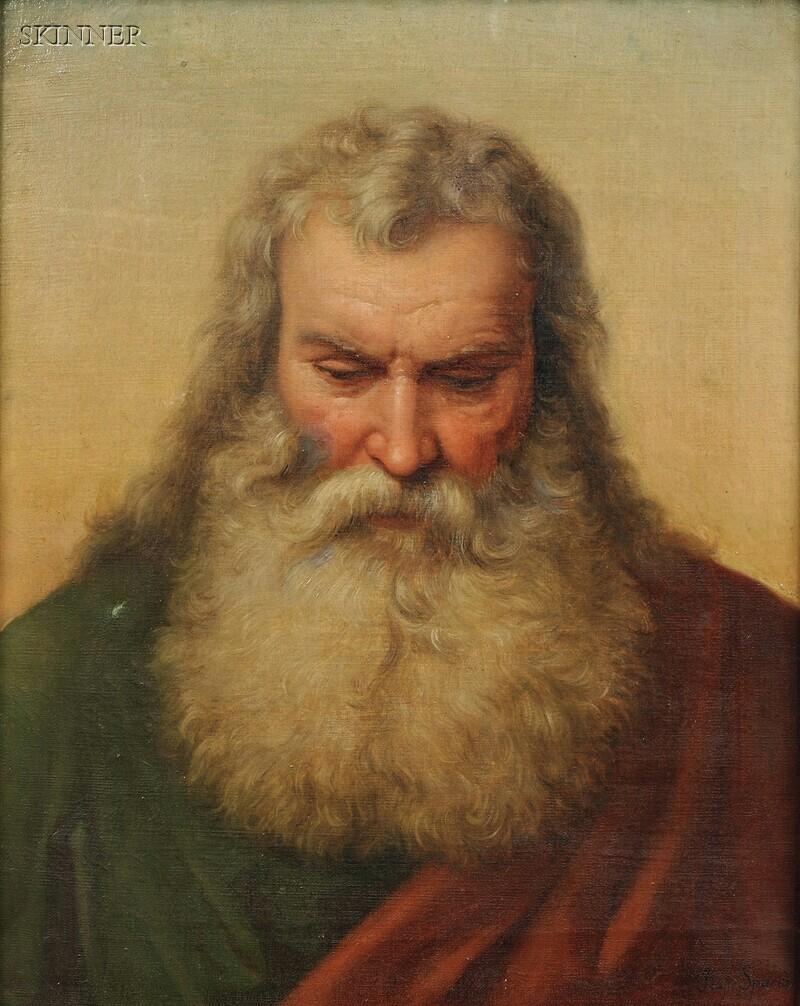 Raffaello Spano (Italian, 1817-1863)      Study from Life