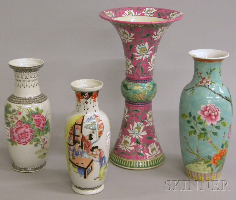 Four Chinese Porcelain Vases