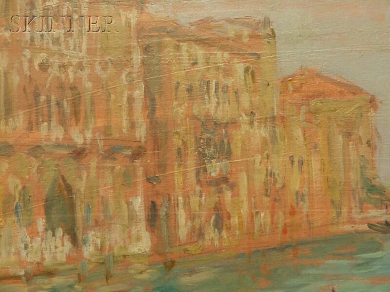 Émile-Victor-Augustin Delobre (French, 1873-1956)      Grand Canal à Venise