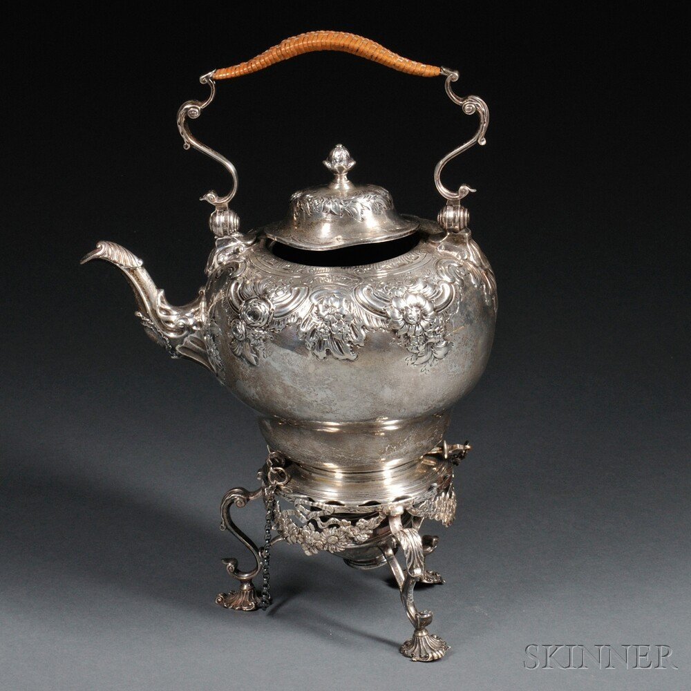 George V Sterling Silver Kettle on Stand