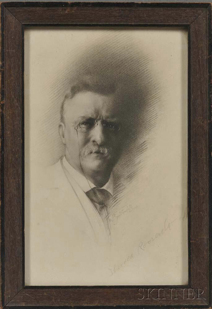 Roosevelt, Theodore (1858-1919) Signed Portrait.