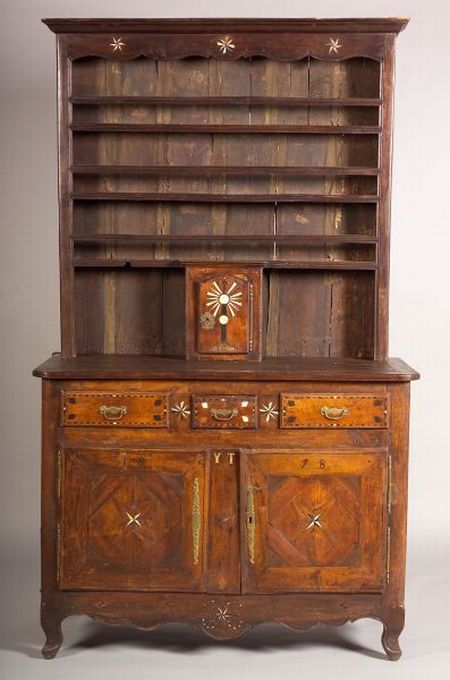 Welsh Bone and Fruitwood Inlaid Dresser