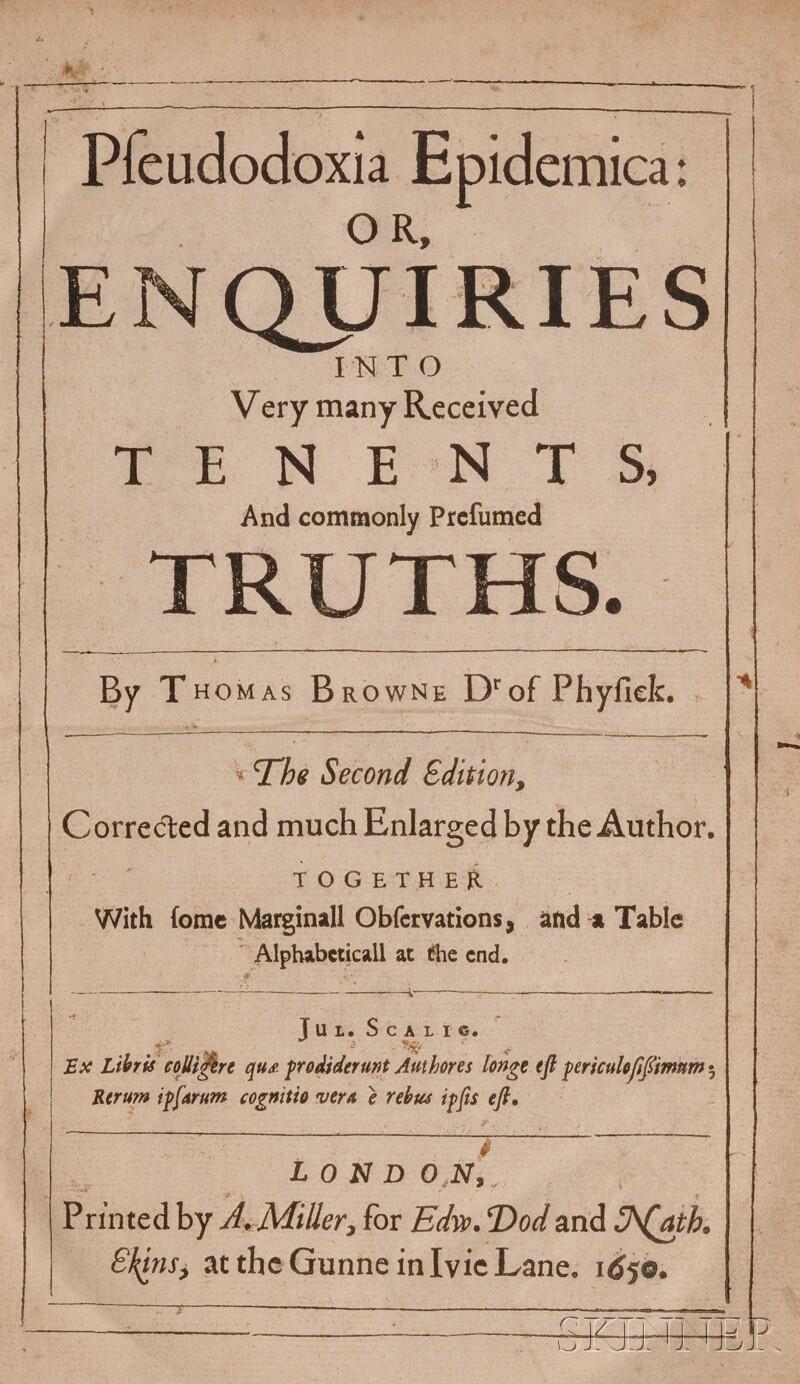 Browne, Sir Thomas (1605-1682)
