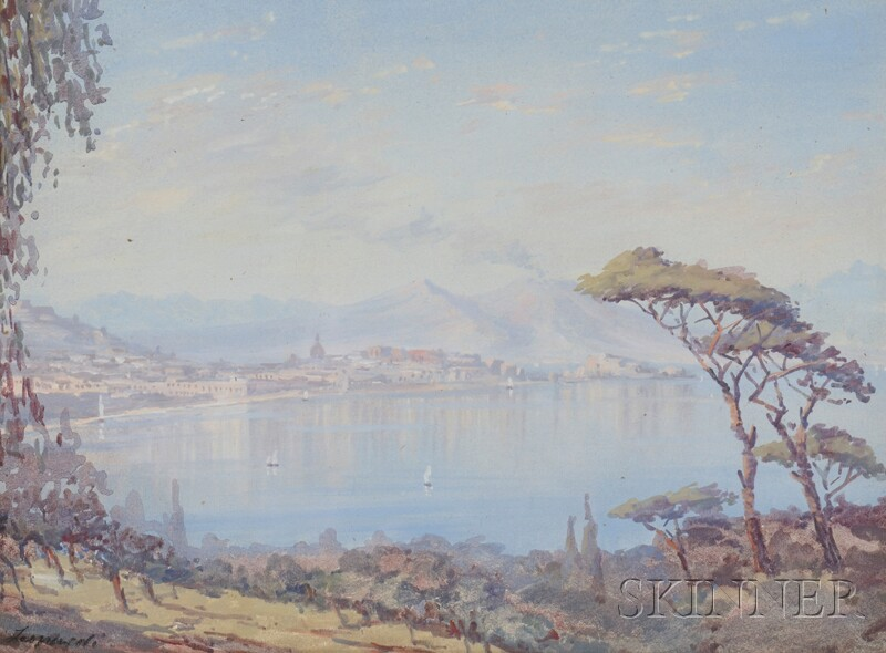 Italian School, 19th/20th Century      View of Naples