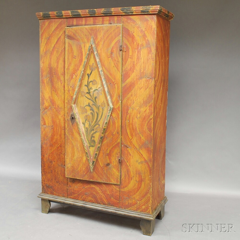 Northern European Paint-decorated Cupboard