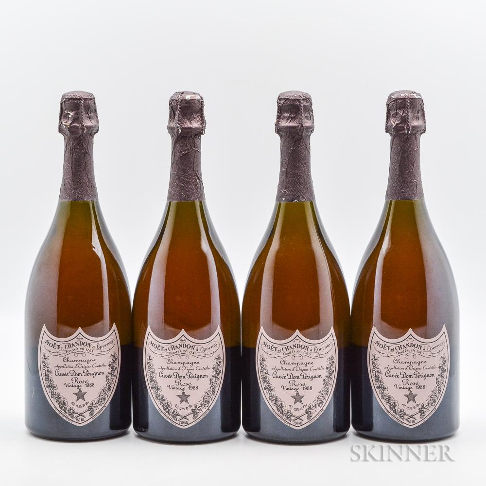 Dom Perignon Vintage Brut Rose 1988, 4 bottles