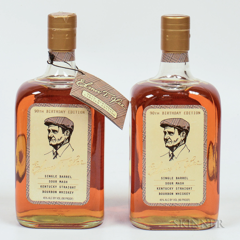 Elmer T Lee Single Barrel 90th Birthday Edition, 2 750ml bottles