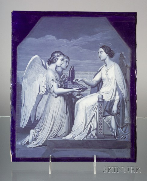 Worcester Enamel Painted Porcelain Plaque