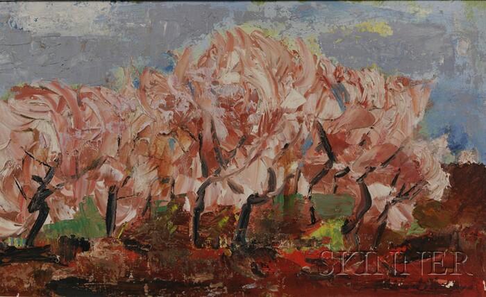 Ferdinand Earl Warren (American, 1899-1981)      Trees in Bloom.